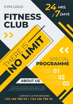 Club fitness in stile poster sportivo