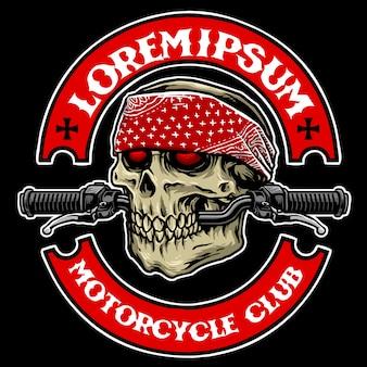 Club motociclistico teschio