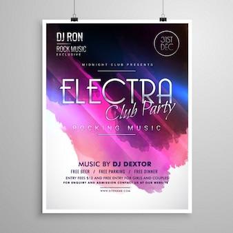 Club party di layout evento opuscolo modello volantino