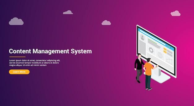 Cms progettazione del sito web del sistema di gestione dei contenuti