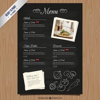 Cmyk restaurant modello di menu