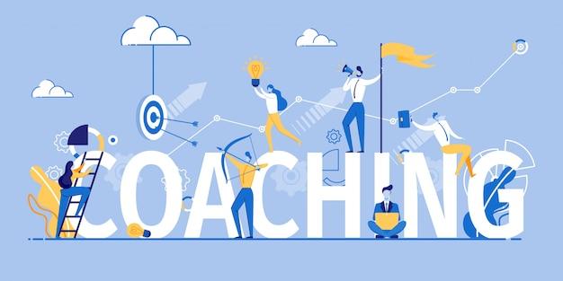 Coaching banner marketing e formazione pubblicitaria