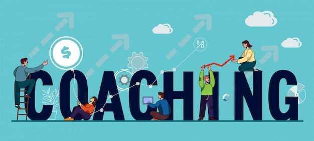 Coaching di iscrizione di lettere maiuscole.