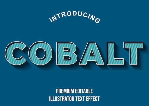Cobalto - stile di carattere effetto testo blu blu