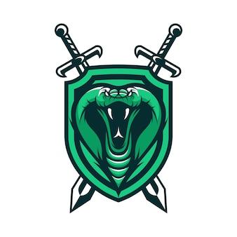 Cobra vettore animale vettoriale logo mascotte testa sportiva