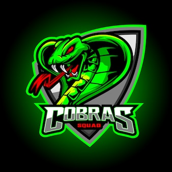 Cobras esport mascot logo design
