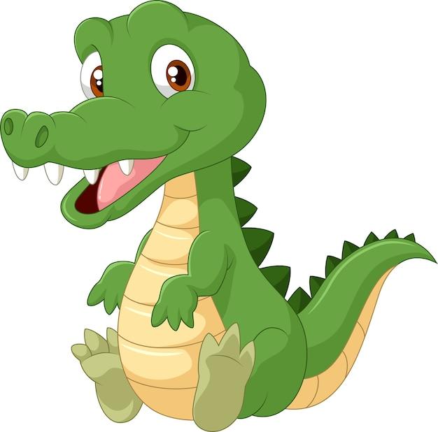 Coccodrillo simpatico cartone animato