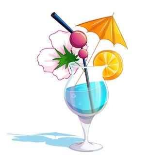 Cocktail blu della spiaggia tropicale di estate.
