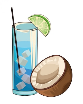 Cocktail con cocco
