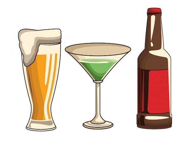 Cocktail di birra e bottiglia