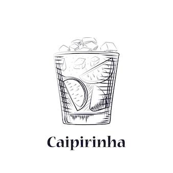 Cocktail schizzo disegnato a mano