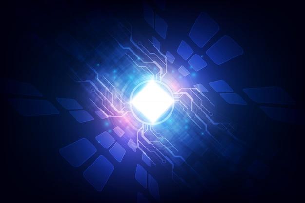 Codice astratto del circuito integrato del processore di tecnologia e codice del html