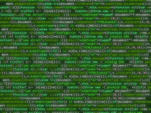 Codice programma scintillante colorato bakcground.
