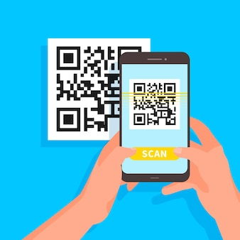 Codice qr di scansione per smartphone