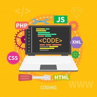 Coding design concept
