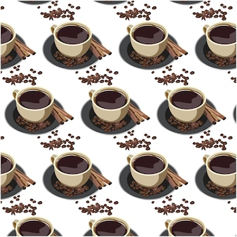 Coffe cup pattern background