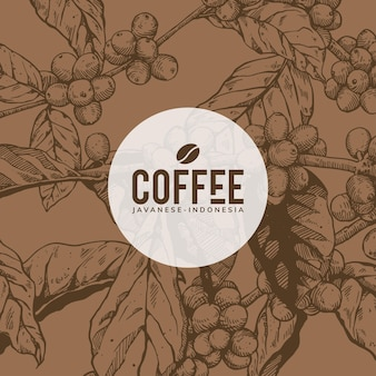 Coffee background art design (marrone)