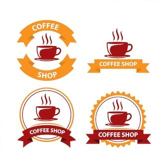 Coffee shop logo design vector