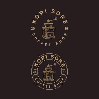 Coffee shop logo design vintage