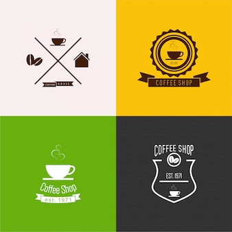 Coffee shop logo set