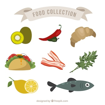 Colecction di cibo sano