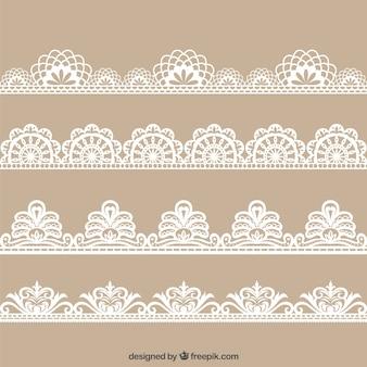 Colecction di disegnata a mano decorazione in pizzo floreale
