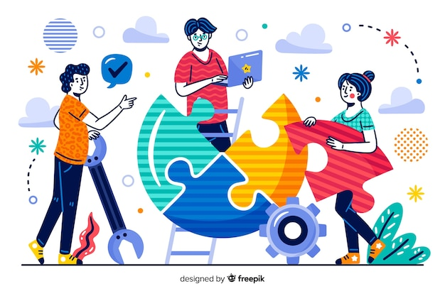 Collaboratori della pagina di destinazione del concetto