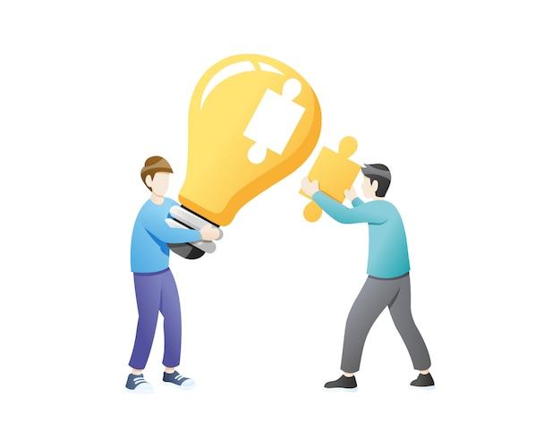 Collaborazione creativa per idee o soluzioni