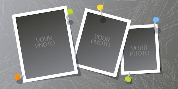 Collage dell'illustrazione delle cornici della foto