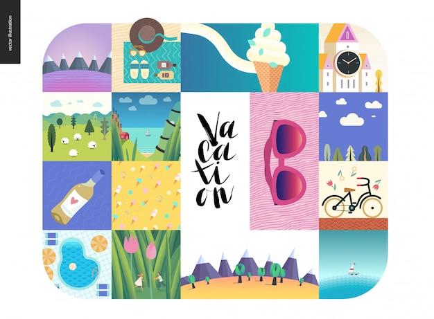Collage di vacanza