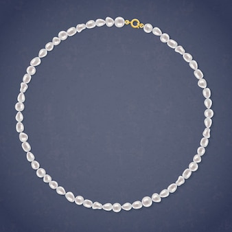 Collana rotonda di perle d'acqua dolce.