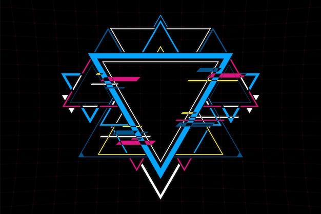 Collegamento astratto futuristico a forma di triangolo