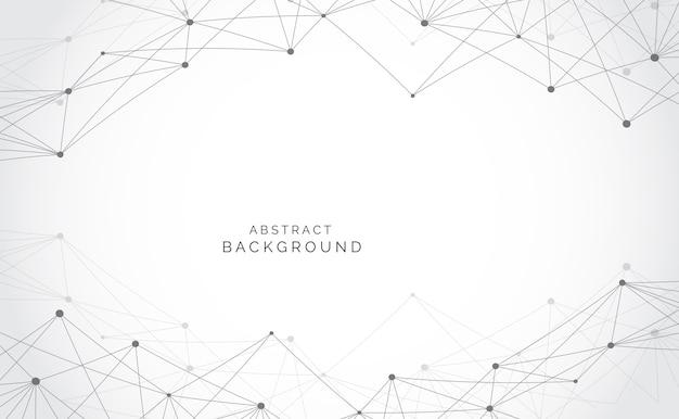 Collegamento astratto moderno di scienza di rete
