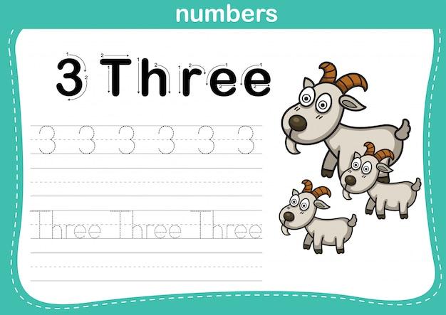 Collegamento di punti e numeri stampabili esercizio