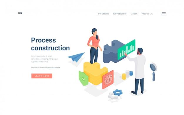 Colleghi che lavorano insieme al progetto. illustrazione