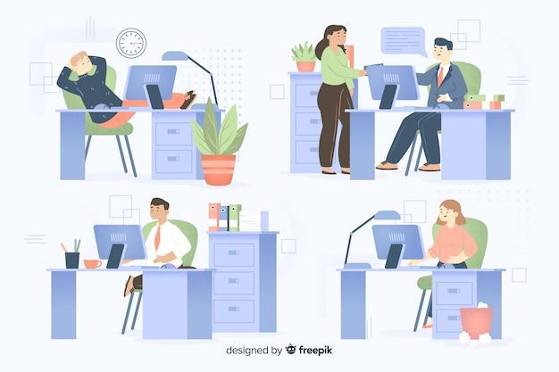 Colleghi che lavorano insieme raccolta