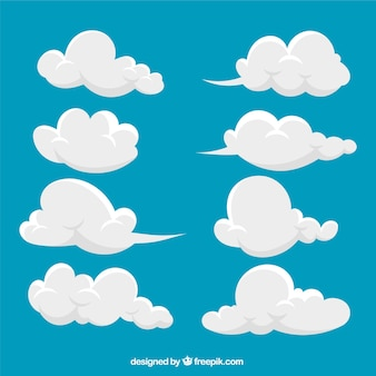 Collezione abstract cloud