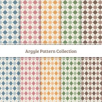 Collezione argyle pattern