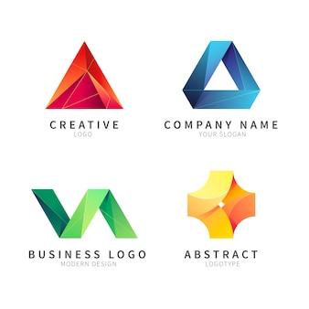 Collezione astratta di logotipi