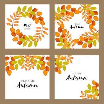 Collezione autunno auguri