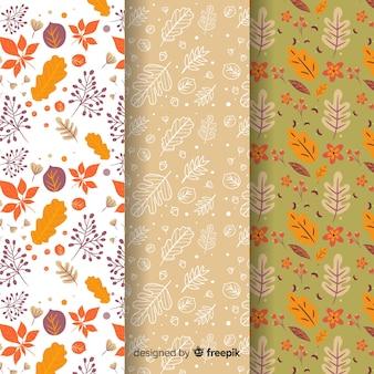 Collezione autunno modello disegnato a mano