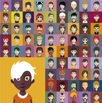 Collezione avatar di persone