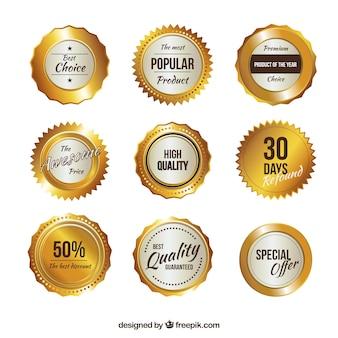 Collezione badge promozionali