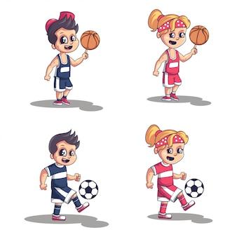 Collezione bambini sportivi