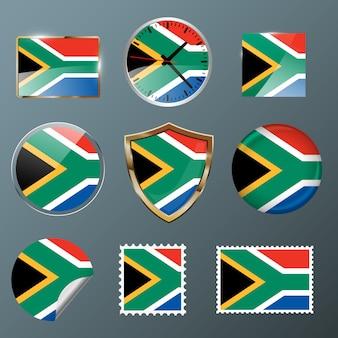 Collezione bandiera sudafrica