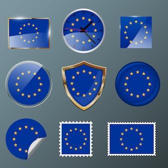 Collezione bandiera unione europea