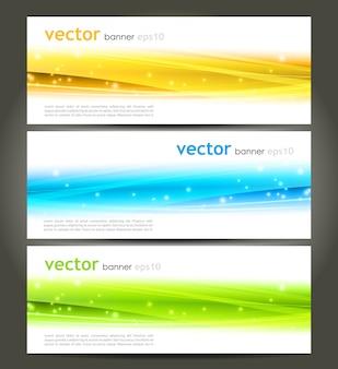 Collezione banner design moderno onda