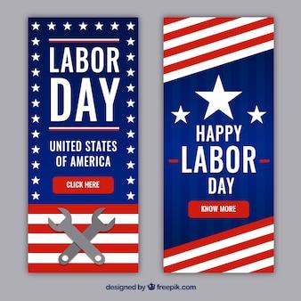 Collezione bannes labor day in stile piatto