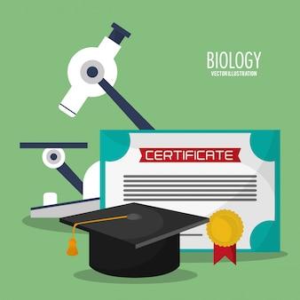 Collezione biologia scienza icone