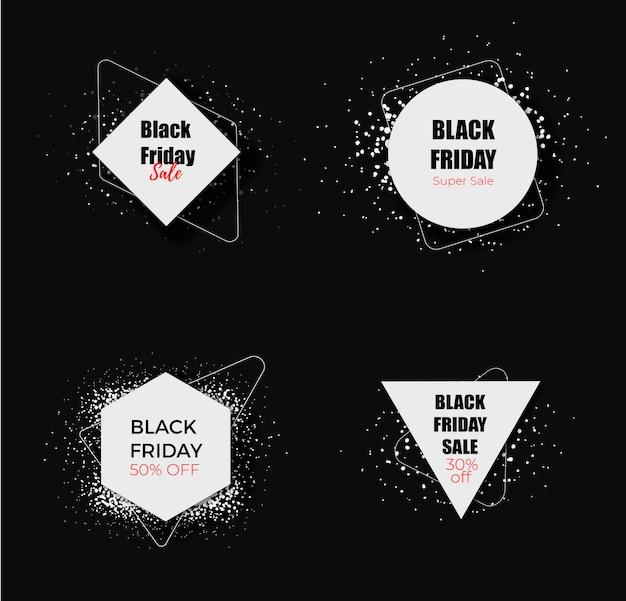 Collezione black friday vendita etichetta nera